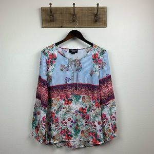 Anthropologie Feathers by Tolani Floral Blouse Top
